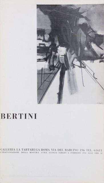 Gianni Bertini, 'Bertini', 1958, Drawing, Collage or other Work on Paper, Flyer, Finarte
