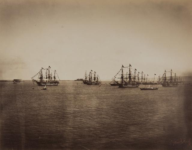 , 'L'escadre française en rade de Cherbourg,' 1858, Hans P Kraus Jr. Fine Photographs