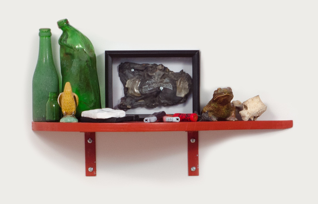 , 'Slow Down Ruby (Shelf with Kama Sutra Tape),' 2014, Fleisher/Ollman