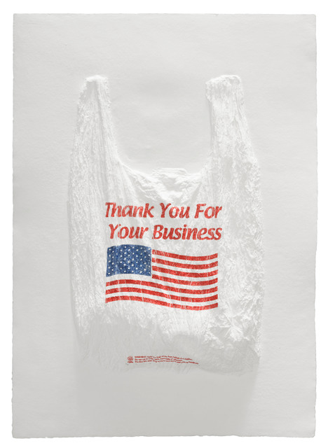 , 'Thank You For Your Business Plastic Bag,' 2016, Mixografia