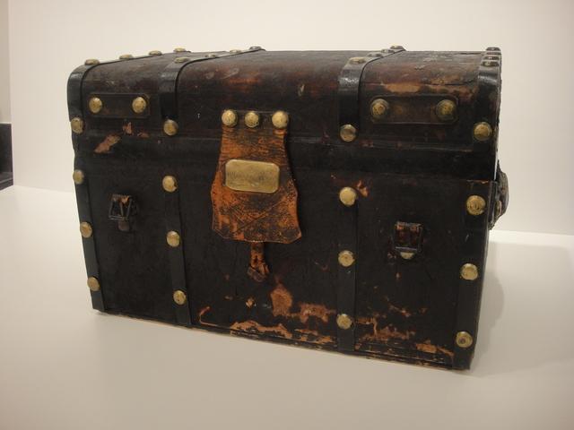 "Grant Wood, 'Grant Wood ""Wig"" trunk with metal objects', ca. 1940, Kiechel Fine Art"