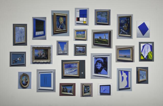 , 'Untitled 2015 (Blue Meta-Painting Installation),' 2015, Mark Moore Fine Art