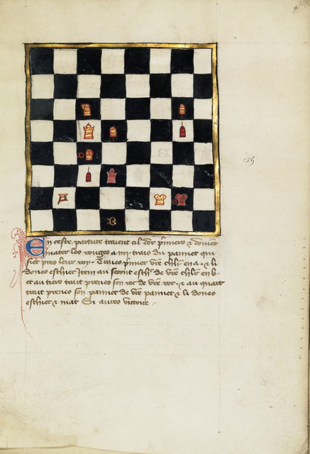 , 'Chess Problem,' late 14th century, J. Paul Getty Museum