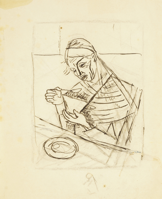 Marie Vorobieff Marevna, 'Seated woman eating from a bowl', Roseberys