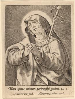 Antonie Wierix, 'Tuam ipsius animam ...', Print, Engraving, National Gallery of Art, Washington, D.C.