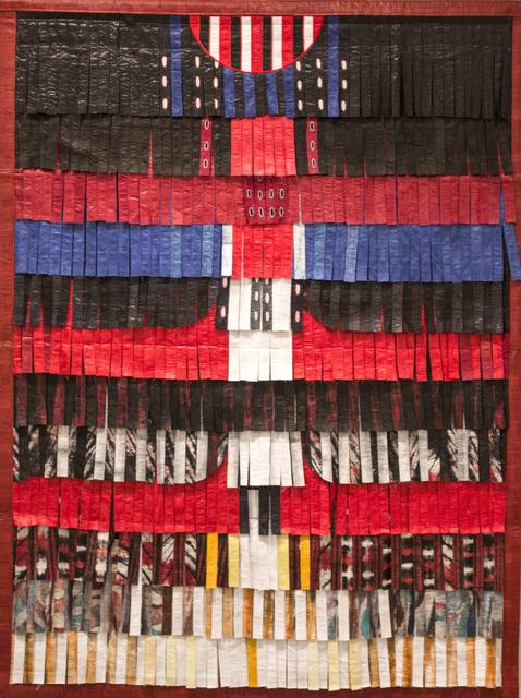 , 'Composition rouge, noir et blanc plus bleu,' 2016, Primo Marella Gallery