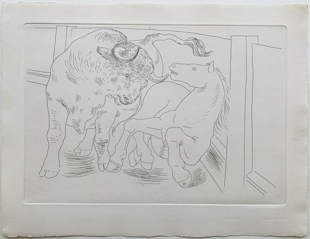 Pablo Picasso, ' Bull and Horse', 1929, Galerie Fetzer