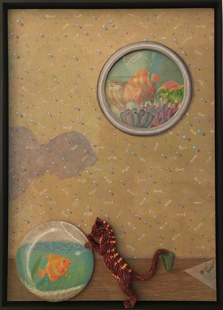 , 'Cat and the Fishbowl,' 2017, Adelson Galleries