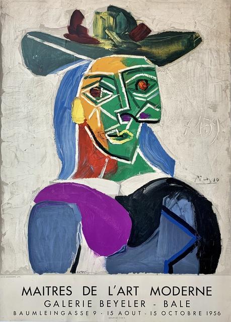Pablo Picasso, 'Femme au Chapeau', 1956, Print, Lithograph, Van der Vorst- Art