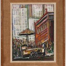 Unknown, 'Hot Dog Vendor, Manhattan, NYC Street Scene', Mid-20th Century, Lions Gallery