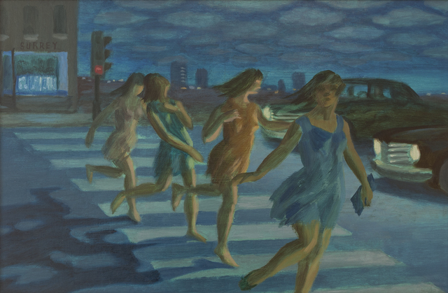 , 'Girls Menaced by Automobile,' , Canadian Fine Arts