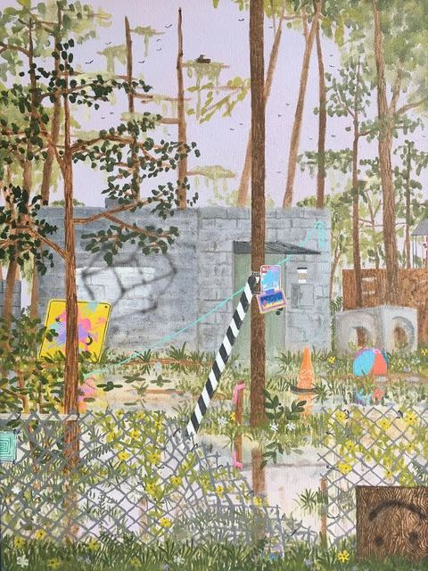 Max Seckel, 'Walkthrough', 2020, Painting, Flashe, Acrylic, and Spray Paint on Canvas, Mortal Machine