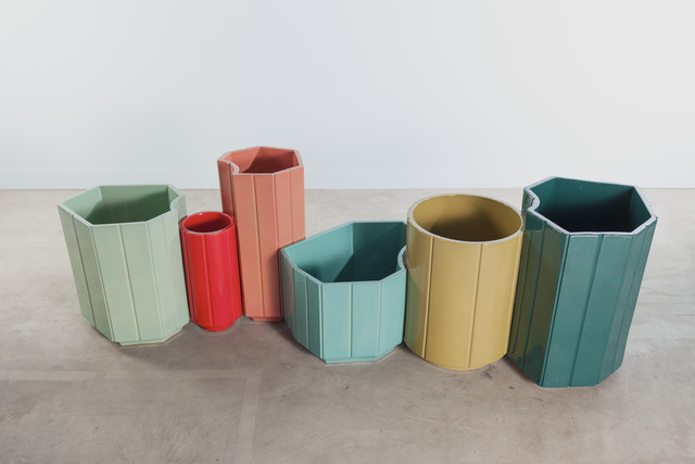 India Mahdavi, 'VASES series 3 (S3) MONOCHROME, SET OF 6 in limited edition of 40 - celadon, red, rose, turquoise, chartreuse, canard blue.', 2013, Carwan Gallery