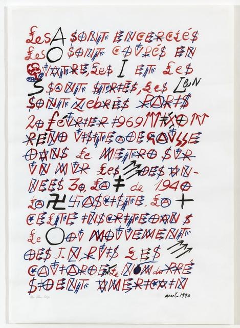 , 'Bleu Blanc Rouge,' 1990, Arielle de Saint Phalle + Taylor Roy