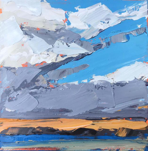 ", '""Orange Horizon"" Impasto Oil Painting of a Martha's Vineyard Sunset,' 2018, Eisenhauer Gallery"