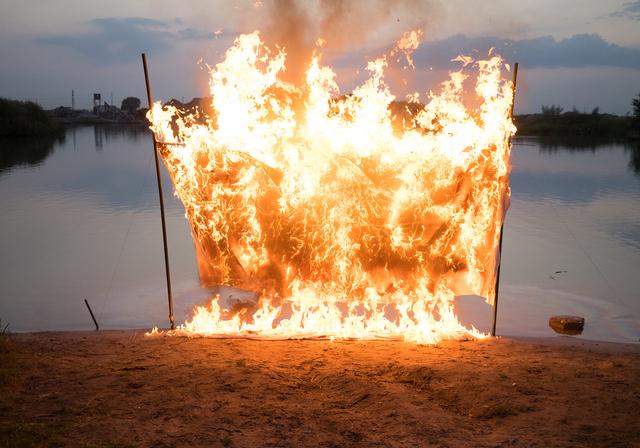 , 'Speedboat Tilt,' 2017, Śmierć człowieka