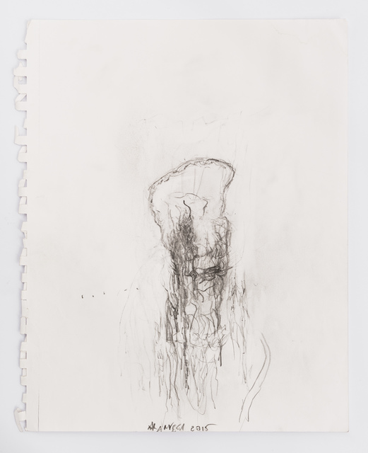 Alan Vega, 'Untitled', 2015, Drawing, Collage or other Work on Paper, Pencil on paper, Galerie Laurent Godin