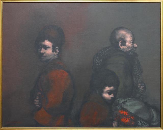 Rafael Coronel, 'Three Figures', 1976, Painting, Oil on Canvas, Stern Fine Art