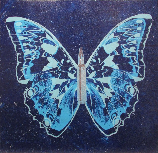 , 'Blue Butterfly on Blue,' 2017, Taglialatella Galleries