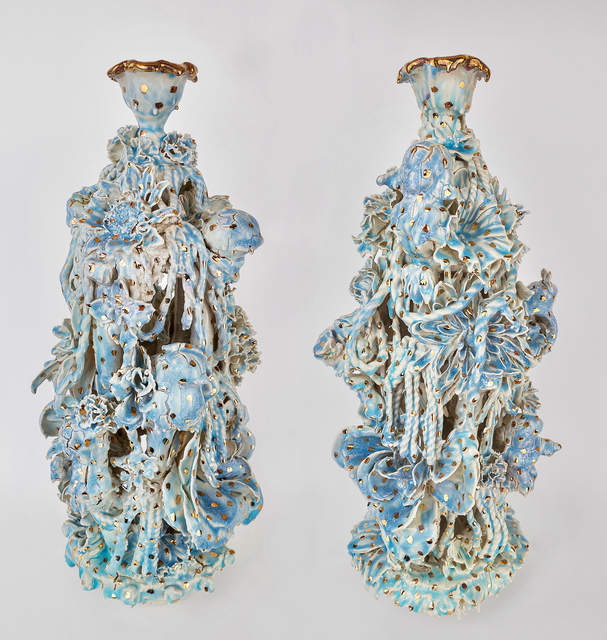 , 'Blue and Gold Pair,' 2017, Conduit Gallery