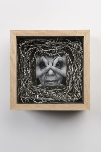 , 'Wooden and Stainless Steel Box with Face and Hands No.5,' 2018, Gazelli Art House