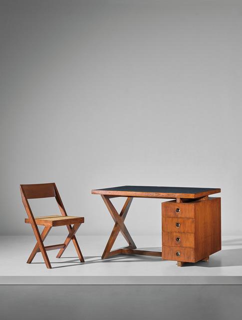 Pierre Jeanneret, 'Administrative desk, model no PJ-BU-19-A, designed for administrative buildings', circa 1960, Phillips