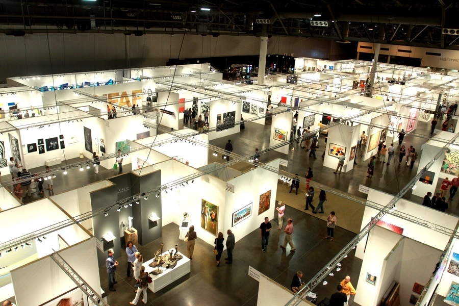 Overview of booths at The Houston Fine Art Fair