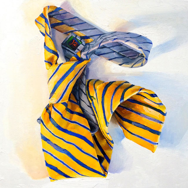 , 'Blue and Gold Stripes,' , Rosenthal Fine Art