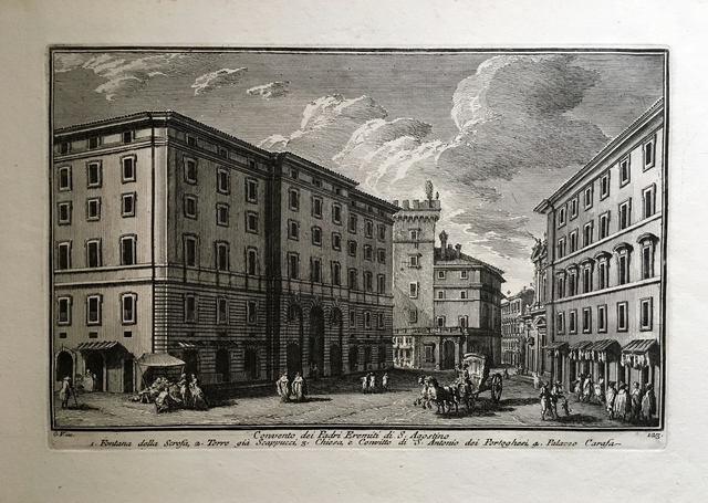 Giuseppe Vasi, 'Convento dei Padri Eremiti di S. Agostino. Plate 123 from Delle Magnificienze di Roma Antica e Moderna', 1747-1761, Print, Etching, Pia Gallo
