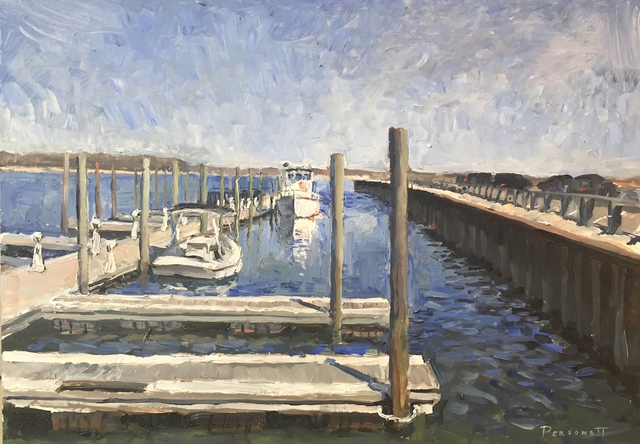 , 'The Docks in April,' 2018, Grenning Gallery