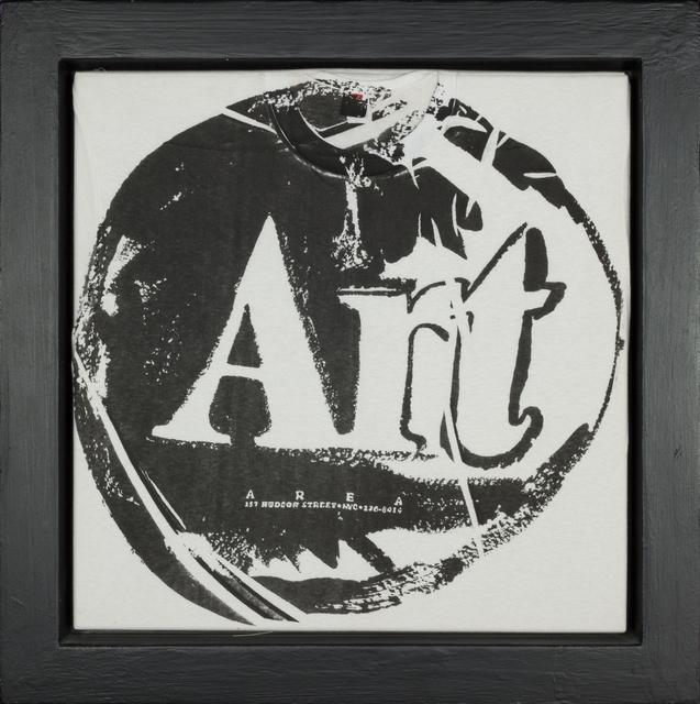 Andy Warhol, 'Art T-Shirt - black', 1980, Rudolf Budja Gallery
