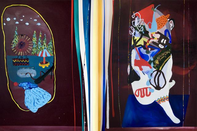 , 'La Parade du Grand Kalamata (Diptych),' 2013, Galerie Dominique Bouffard