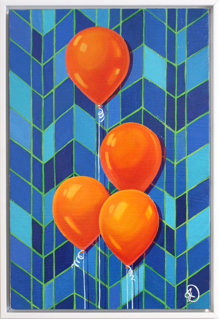 Julia Deckman, 'Party Time', 2019, Painting, Oil on panel, framed, Miller Gallery Charleston