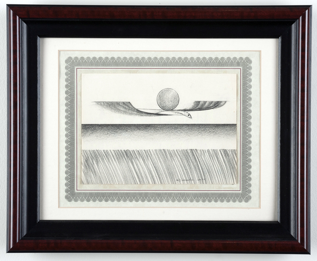 Eugene James Martin, 'Untitled', 1978, Drawing, Collage or other Work on Paper, Graphite drawing with frame and collage, Eugene Martin Estate