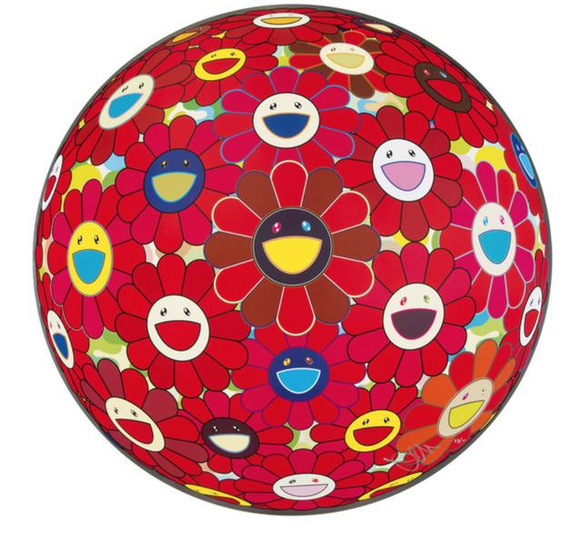 Takashi Murakami, 'RED FLOWERBALL 3D', 2013, Print, Offset lithograph on paper, Marcel Katz Art