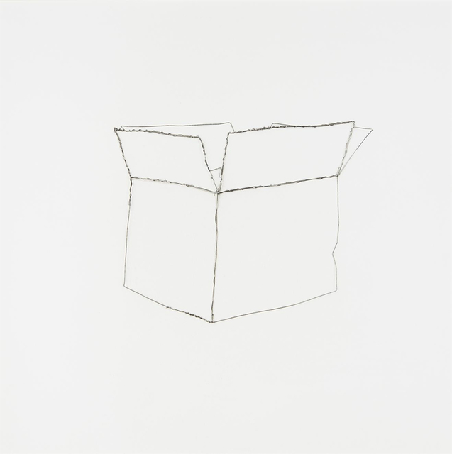 "Vik Muniz, 'Paper Box (from ""Pictures of Wire"")', 1995, ClampArt"