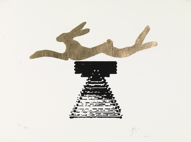 , 'Leaping hare,' 1991, Robert Eagle Fine Art