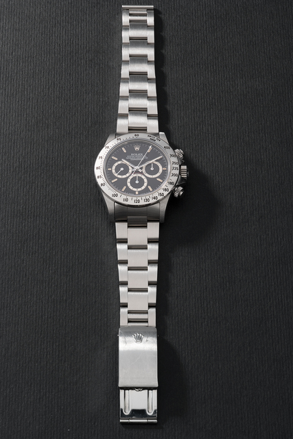 Rolex, 'A fine and extremely rare stainless steel chronograph wristwatch with bracelet, guarantee and presentation box', Circa 1990, Phillips