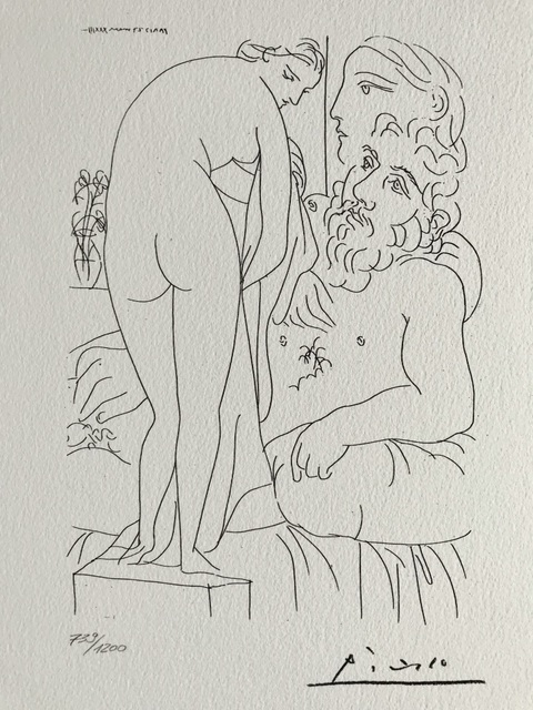 Pablo Picasso, 'Le sculpteur et la sculpture de dos (Suite Vollard Planche LI)', 1973, ByNewArt