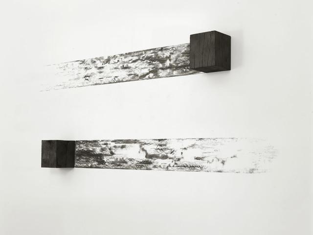 Michel François, 'Instant Drawing', 2018, Sculpture, Burnt wood, Alfonso Artiaco