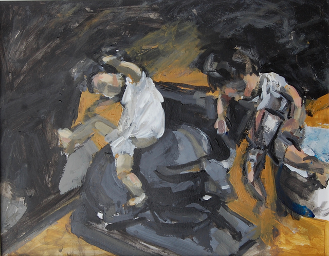 Gulgun Aliriza, 'Riding a Bull #2', 2017, Painting, Acrylic on gessoed paper, Blue Mountain Gallery