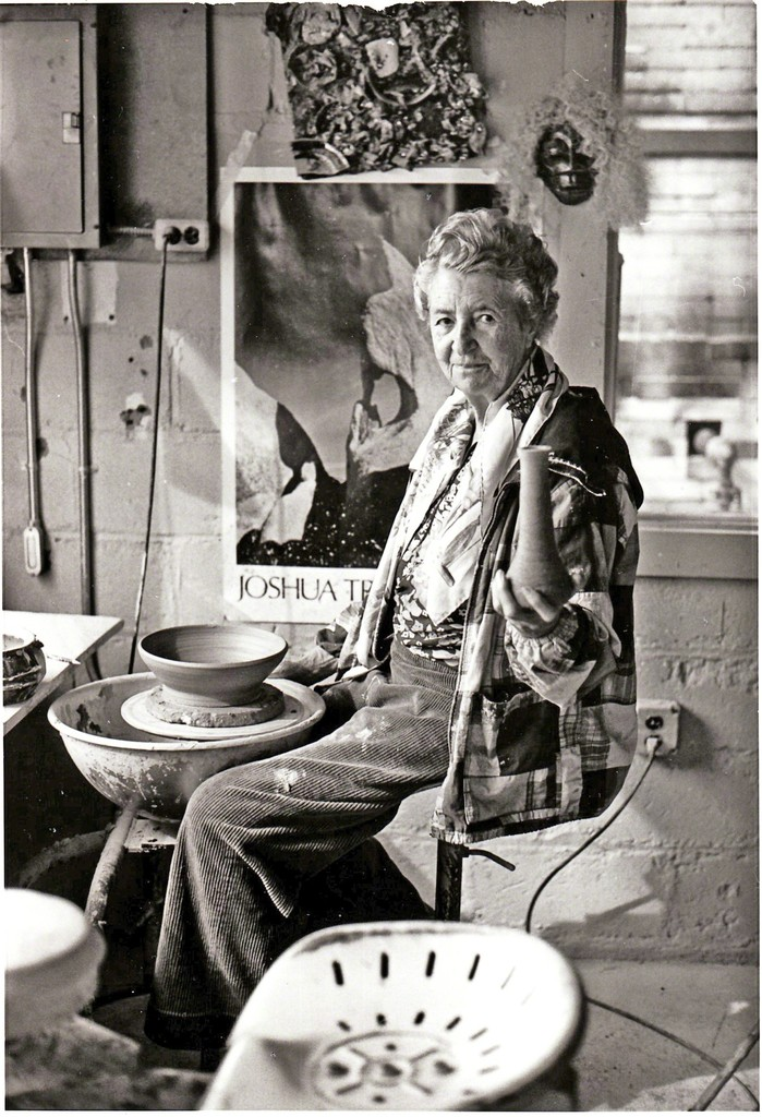 Aileen Osborn Webb in Her Pottery Studio, n.d.