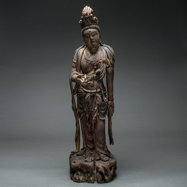 Unknown Chinese, 'Ming Dynasty Lacquered Wood Sculpture of Guanyin', 1368-1644, Barakat Gallery