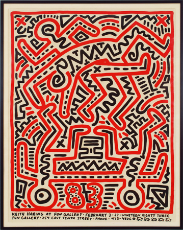 Keith Haring, 'Fun Gallery Poster', 1983, Rhodes