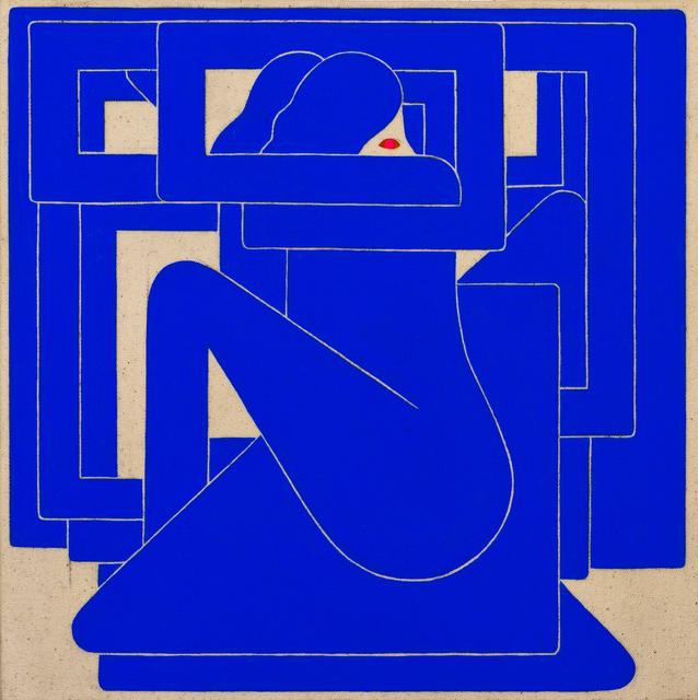 , 'Untitled, (Blue Figure, Red Eye),' 2018, V1 Gallery
