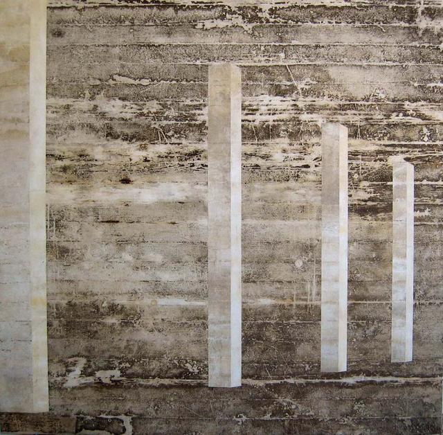 , 'Galeria (espaço pano sujo com 4 colunas, chão, paredes, teto mesma peça),' 2004, Galeria Nara Roesler