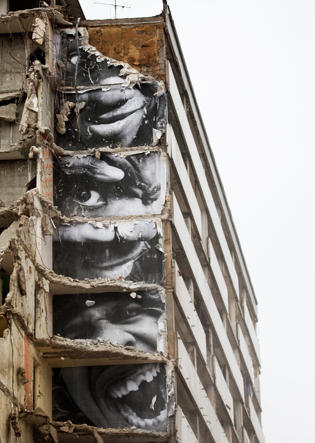 , '28 Millimètres, Portrait d'une Génération, B11, Destruction #9, Montfermeil, France, 2013,' 2013, Lazinc