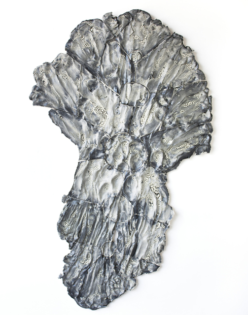 , 'Black and White Crackle Spine - spreading up and down with hands and feet,' 2018, Open Mind Art Space
