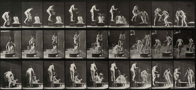 , 'Plate 408 Two models; 1 pouring bucket of water over 8,' 1887, Laurence Miller Gallery