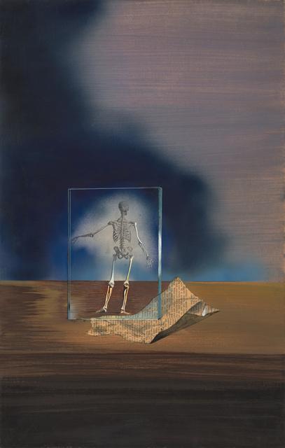 , 'Untitled (Skeleton in frame with newspaper),' a. 1938-1940, Robert Koch Gallery